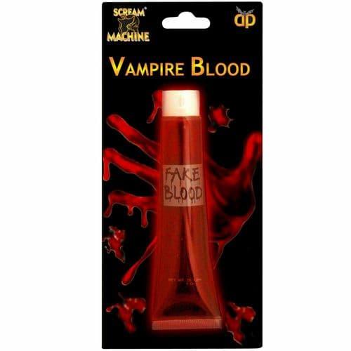 Scream Machine Vampire Fake Blood Halloween Fancy Dress Wound Red Tube